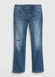 Gap Kids Destructed Boot Jeans with Fantastiflex