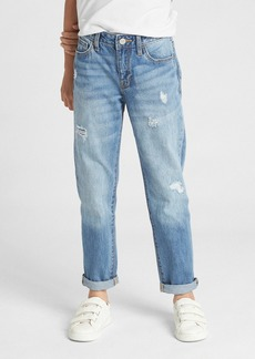 Gap Kids Destructed Girlfriend Jeans