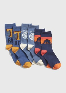 Gap Kids Dino Crew Socks (3-Pack)