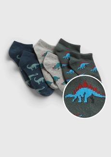 Gap Kids Dinosaur Graphic No-Show Socks (3-Pack)
