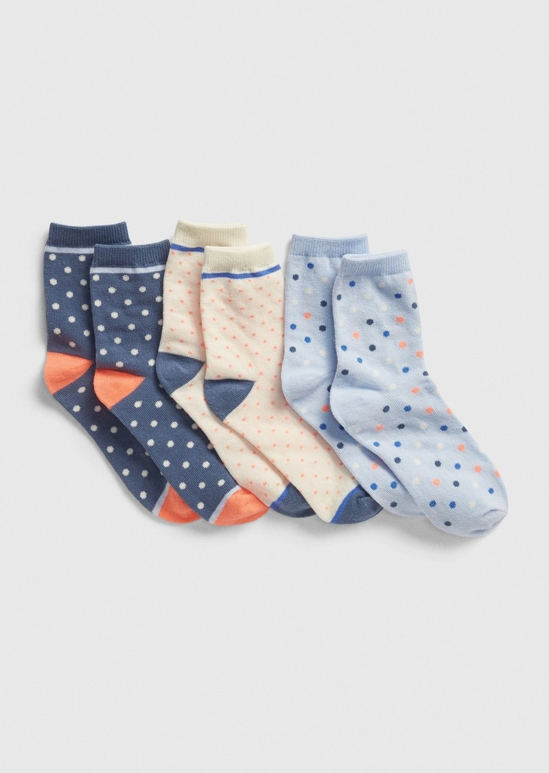 Gap Kids Dot Crew Socks (3-Pack)