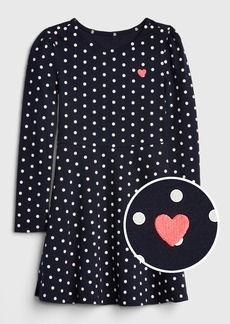 Gap Kids Dot Heart Fit and Flare Dress