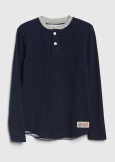 Gap Kids Double-Knit Henley Shirt