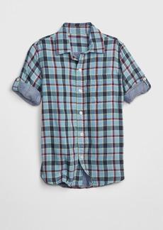 Gap Kids Double-Weave Convertible Shirt