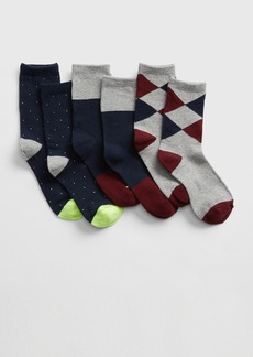 Gap Kids Dressy Crew Socks (3-Pack)