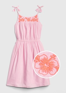 Gap Kids Embroidered Tassel Fit and Flare Dress