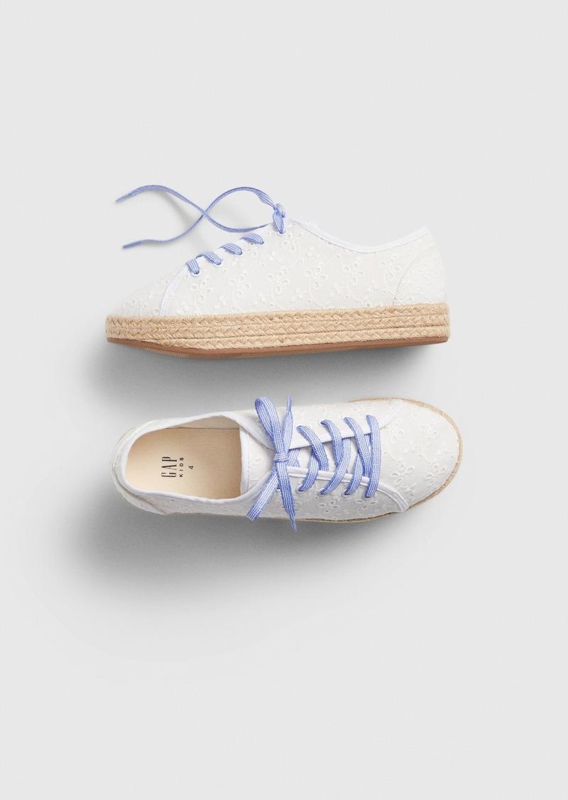 Gap Kids Eyelet Espadrille Sneakers