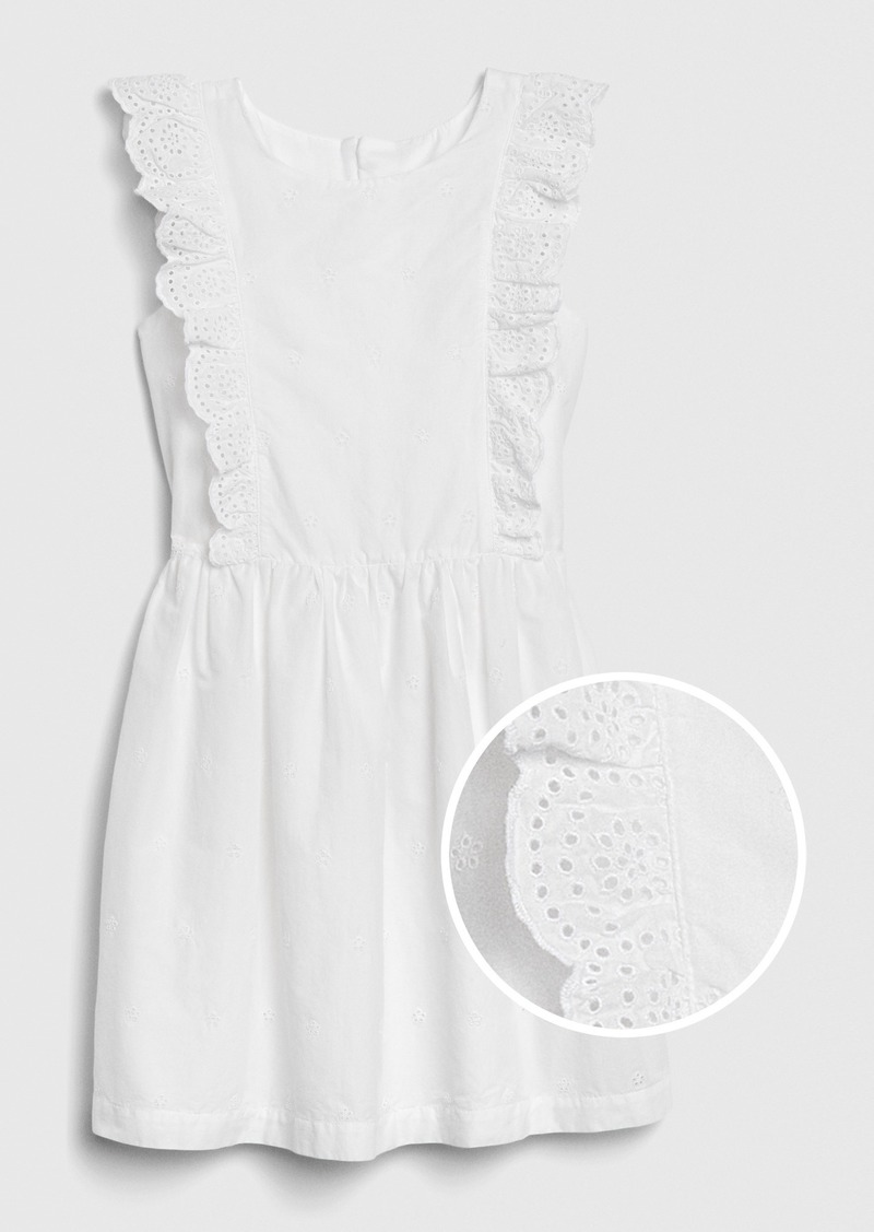 Gap Kids Eyelet Ruffle Dress
