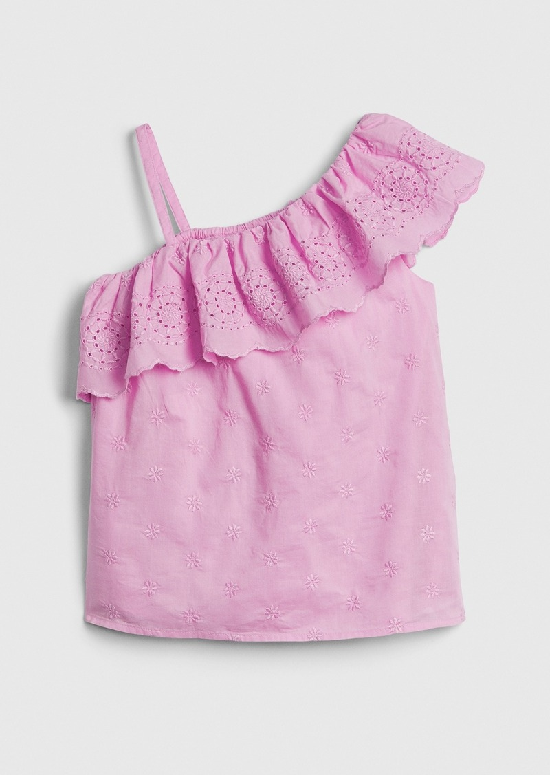 Gap Kids Eyelet Ruffle Top