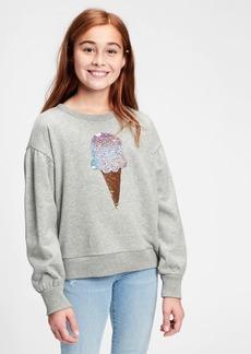 Gap Kids Flippy Sequin Graphic Crewneck Sweatshirt