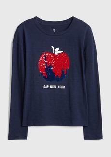Gap Kids Flippy Sequin Graphic T-Shirt