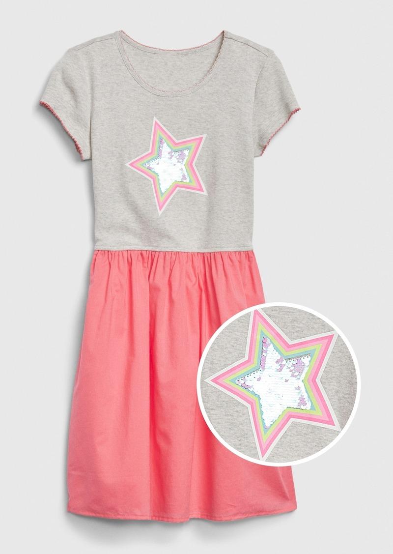 Gap Kids Flippy Sequin Mix-Media Dress