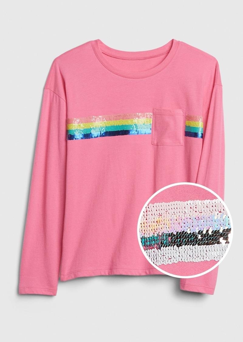 Gap Kids Flippy Sequin Pocket T-Shirt