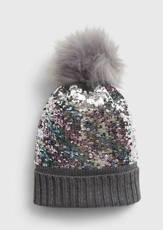 Gap Kids Flippy Sequin Pom Hat