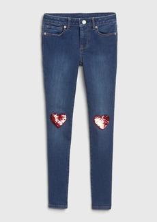 Gap Kids Flippy Sequin Skinny Jeans with Fantastiflex