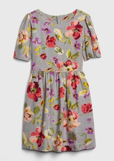 Gap Kids Floral Fit and Flare Dress