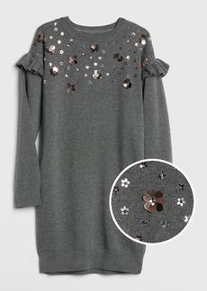 Gap Kids Floral Sequin Sweater Dress