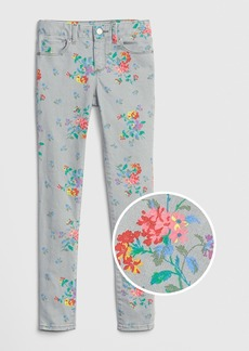 Gap Kids Floral Skinny Jeans with Fantastiflex
