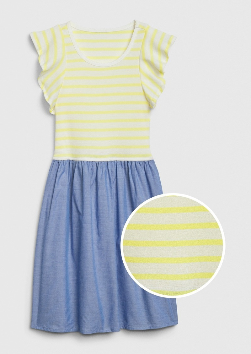 Gap Kids Flutter Mix-Media Dress