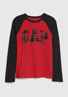 Kids Gap Logo Plaid T-Shirt