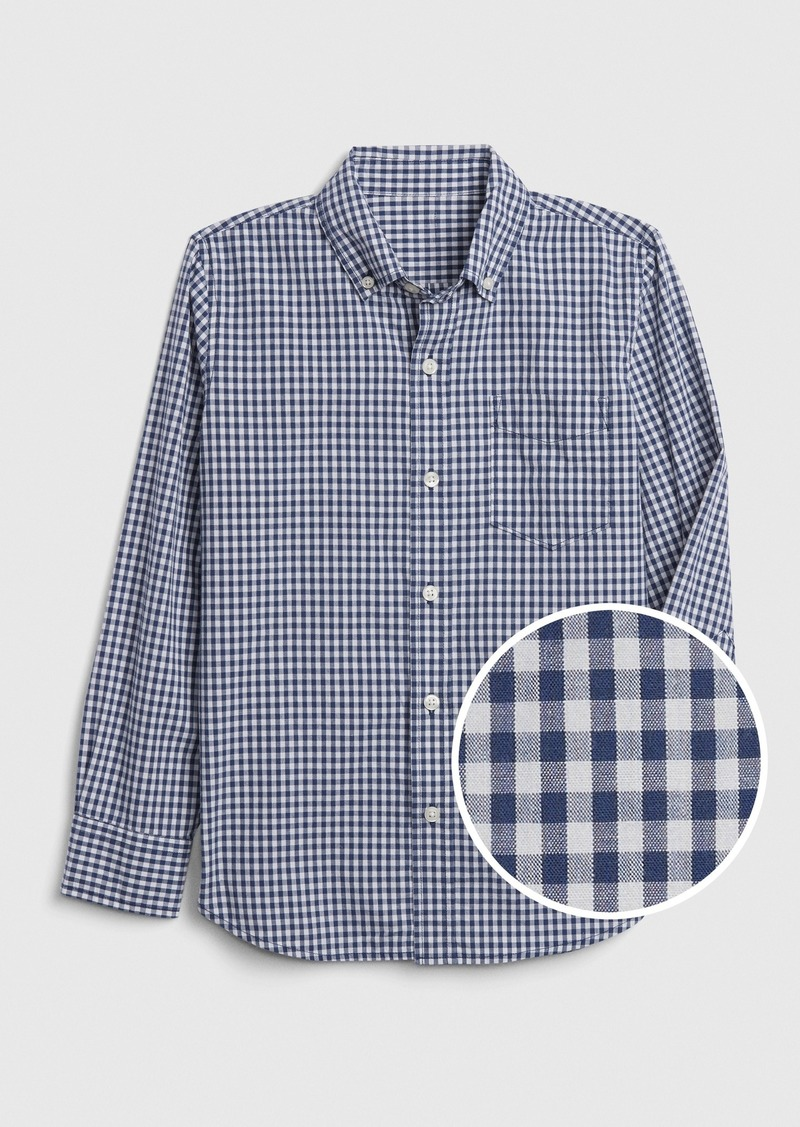 Gap Kids Gingham Poplin Shirt