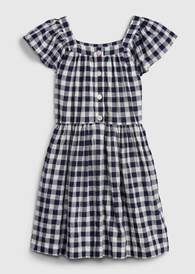 Gap Kids Gingham Squareneck Dress