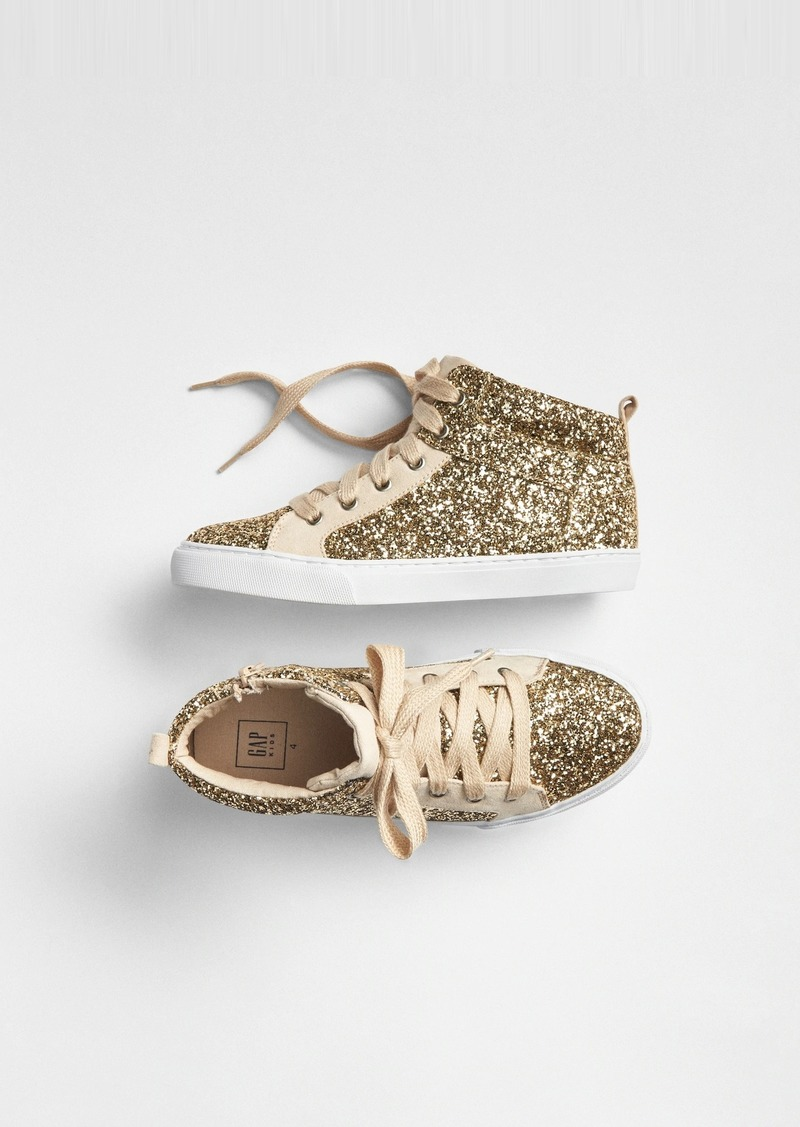 Gap Kids Glitter Hi-Top Sneakers