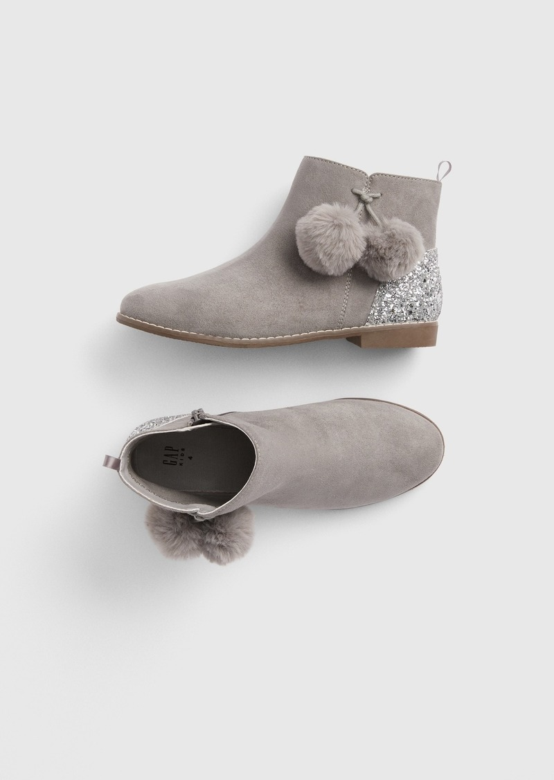 Gap Kids Glitter Pom Booties