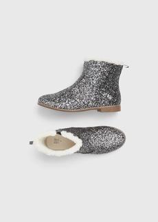 Gap Kids Glitter Sherpa Trim Boots