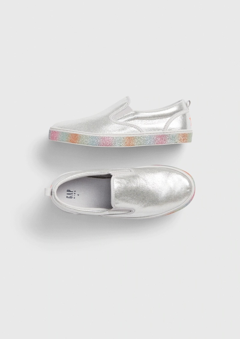 Gap Kids Glitter Slip-On Sneakers