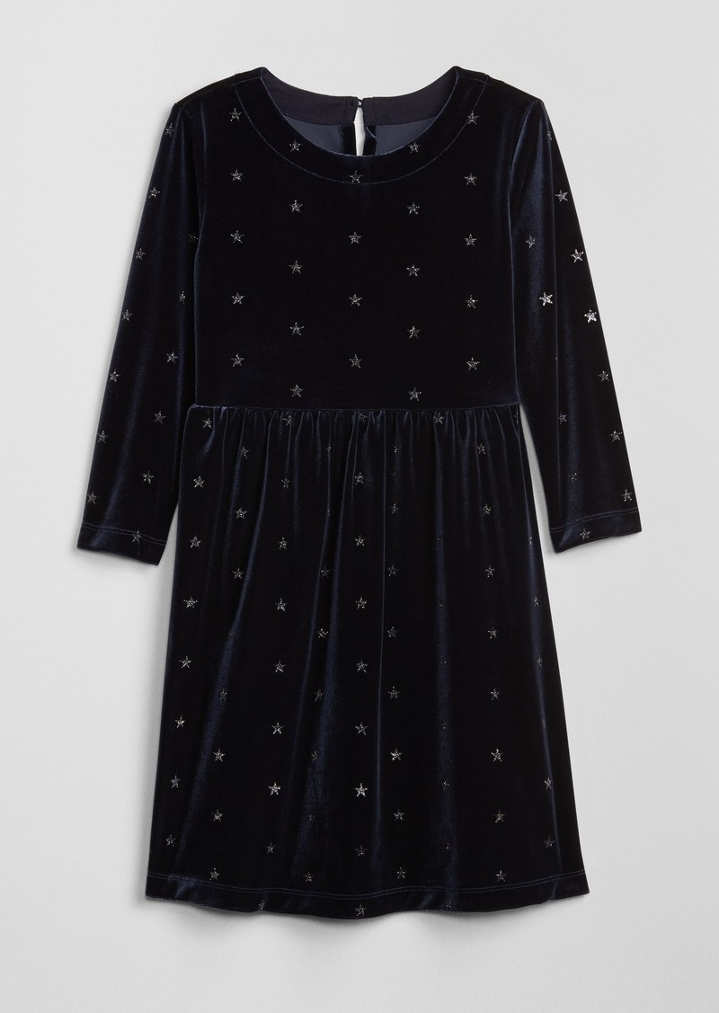Gap Kids Glitter Star Velvet Dress