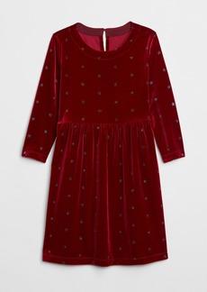 Gap Kids Glitter Star Velvet Dress