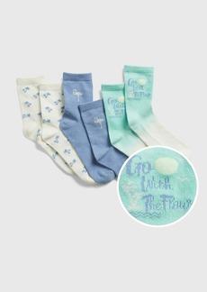 Gap Kids Graphic Crew Socks (3-Pack)