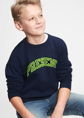 Gap Kids Graphic Crewneck Sweatshirt