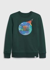 Gap Kids Graphic Crewneck Sweatshirt