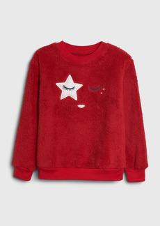 Gap Kids Graphic Fuzzy PJ Sweater