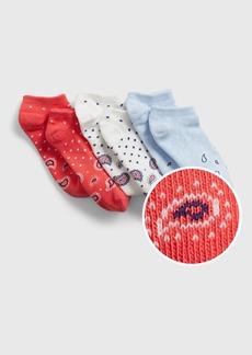 Gap Kids Graphic No-Show Socks (3-Pack)