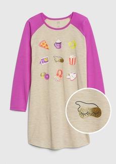 Gap Kids Graphic Raglan PJ Dress