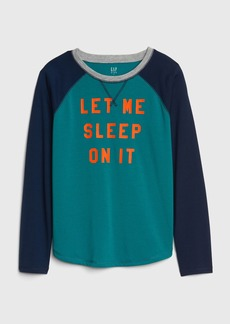 Gap Kids Graphic Raglan PJ T-Shirt