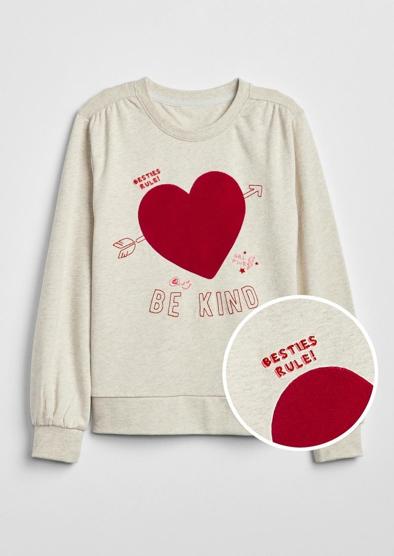 Gap Kids Heart Balloon-Sleeve Top