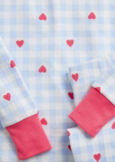 Gap Kids 100% Organic Cotton Heart Gingham PJ Set