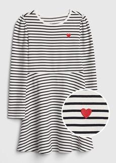 Gap Kids Heart Stripe Fit and Flare Dress