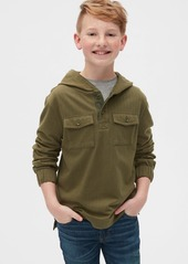 Gap Kids Herringbone Hoodie Long Sleeve Shirt