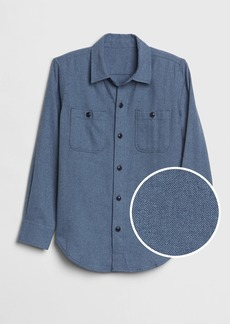 Gap Kids Herringbone Flannel Shirt