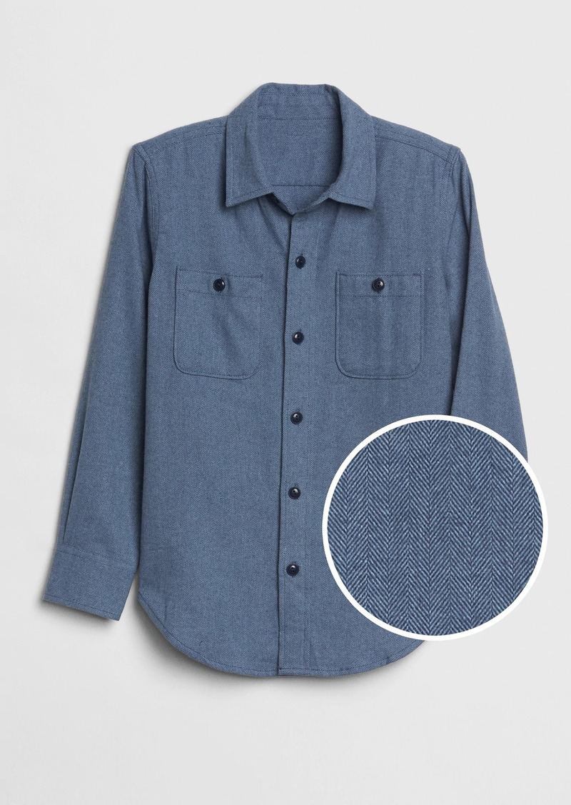 Gap Kids Herringbone Flannel Shirt