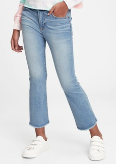 Gap Kids High-Rise Ankle Flare Jeans with Stretch