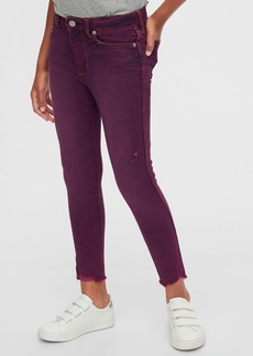 Gap Kids High Rise Ankle Purple Jeggings with Max Stretch