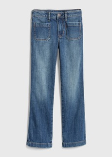 Gap Kids High Rise Flare Jeans with Fantastiflex