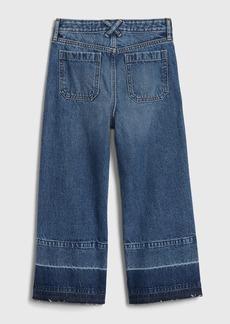 Gap Kids High Rise Utility Wide Leg Jeans