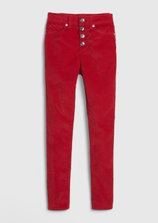 Gap Kids High Rise Velvet Jeggings